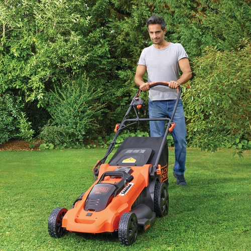 Black and Decker - 36V 48CM Autosense Gressklipper med 2 batterier - CLMA4820L2
