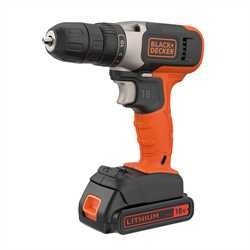 Black and Decker - 18V Lithiumion Drill Driver with 2 x 15Ah Batteries and a 400mA Charger - BCD001C2K