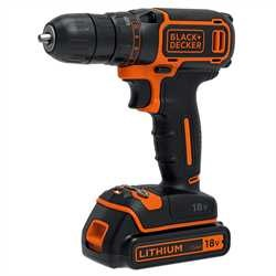 Black and Decker - 18V Drill  1A Lader  koffert  2batterier - BDCDC18K1B