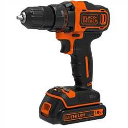 Black and Decker - 18V Drill  200mA Lader  2batterier - BDCDD186B