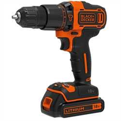 Black and Decker - 18V 2G Borhammer  400mA  koffert  1batteri - BDCHD18K