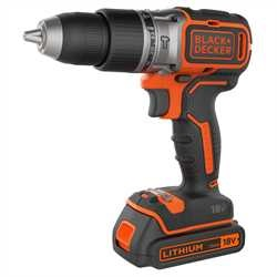 Black and Decker - 18V lithiumion Brstels 2 Gir slagdrill  2 Batterier  1 Amp Lader  koffert - BL188K1B