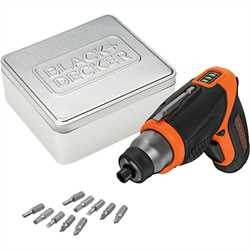 Black and Decker - 36V Lithium Skrutrekker 10 tilbehr i tinn oppbevaringsboks - CS3653LCAT