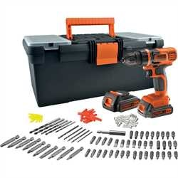 Black And Decker - 144V Lithium Ion Slagdrill med 100 tilbehr og oppbevaringsboks - EGBL14BST2A