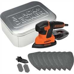 Black and Decker - 120W slipemus med 10 tilbehr og tinnboks - KA2000AT
