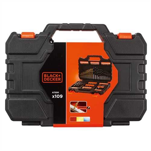 Black and Decker - Bor og bitssett 109 deler - A7200