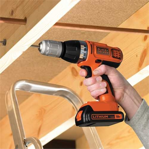 Black and Decker - Drill 18 V Autoselect LiIon med slagfunksjon - ASL188KB